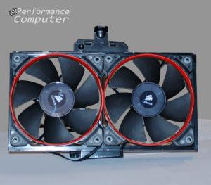 hp blackbird radiator fans
