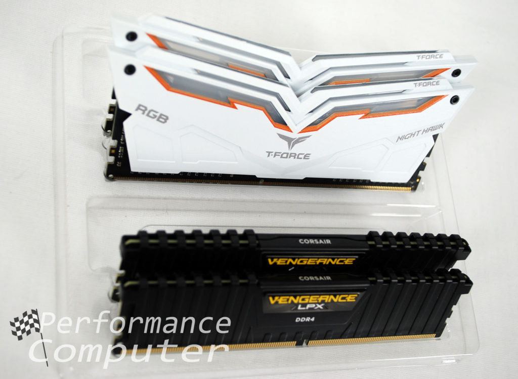 t force night hawk rgb ram vs corsair vengeance lpx