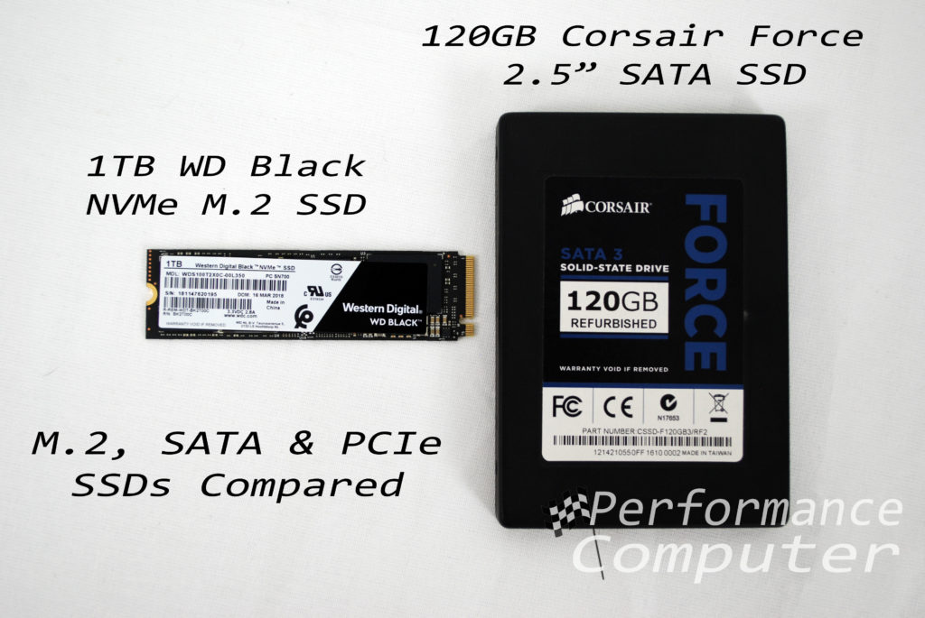 M.2 vs. SATA vs. PCIe (NVMe) SSDs: What's the Difference?
