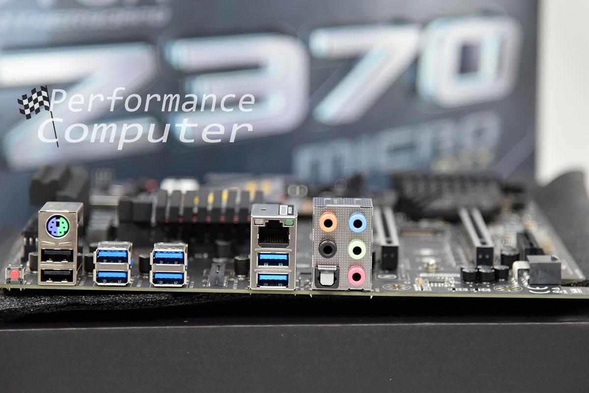 evga z370 micro atx motherboard rear io