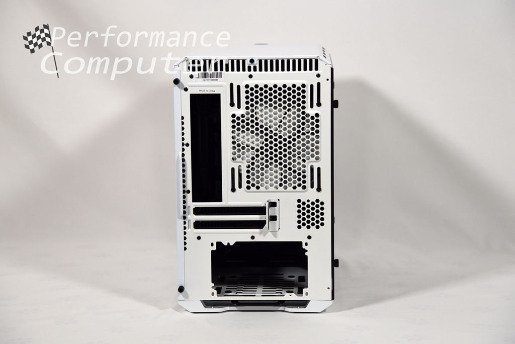 phanteks evolv itx back of case