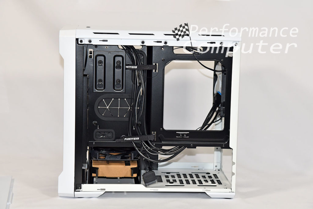 phanteks evolv itx back side