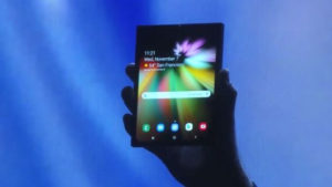 samsung foldable smartphone prototype