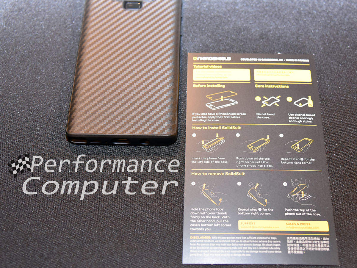 rhinoshield solidsuit case note 9 installation