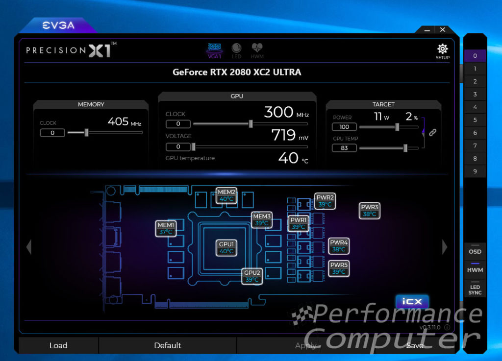 evga precision x1 software