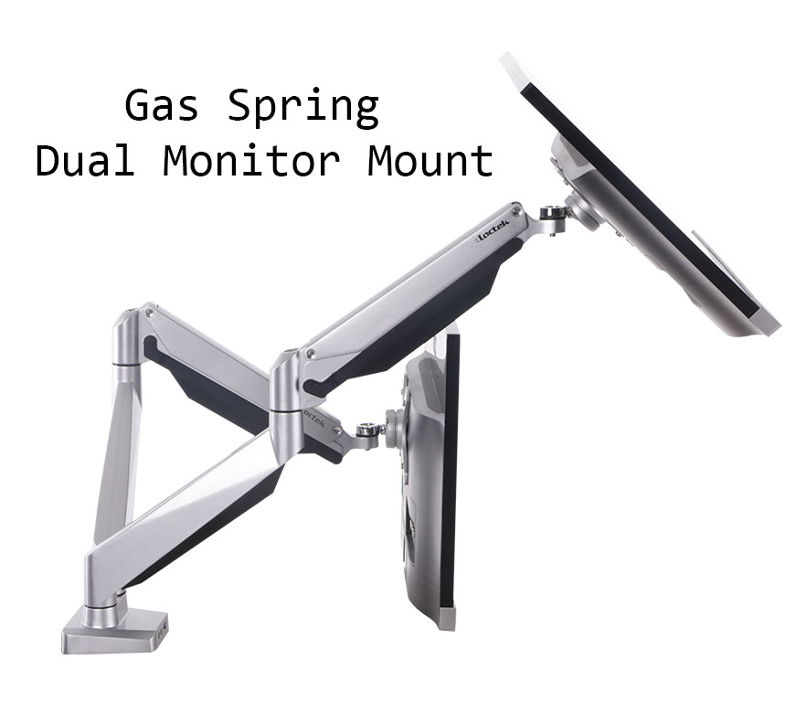 gas spring dual monitor mount