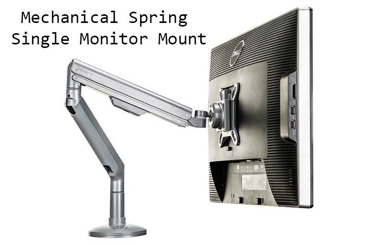 mechanical spring monitor mount