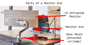 parts of a monitor arm