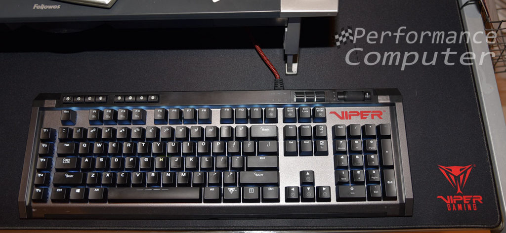 patriot viper gaming v770 keyboard super size mouse pad