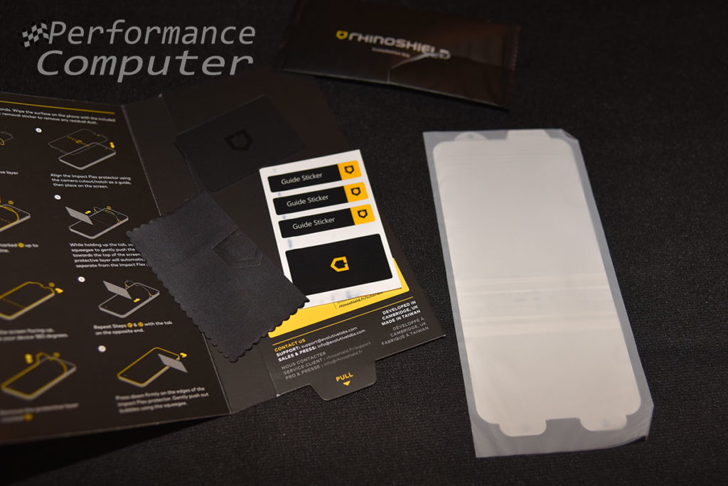 rhinoshield impact flex screen protector s10+ review