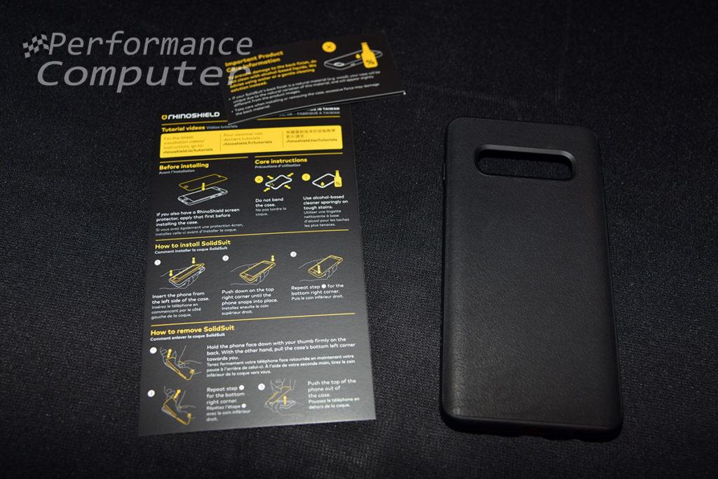 rhinoshield solidsuit s10 plus leather