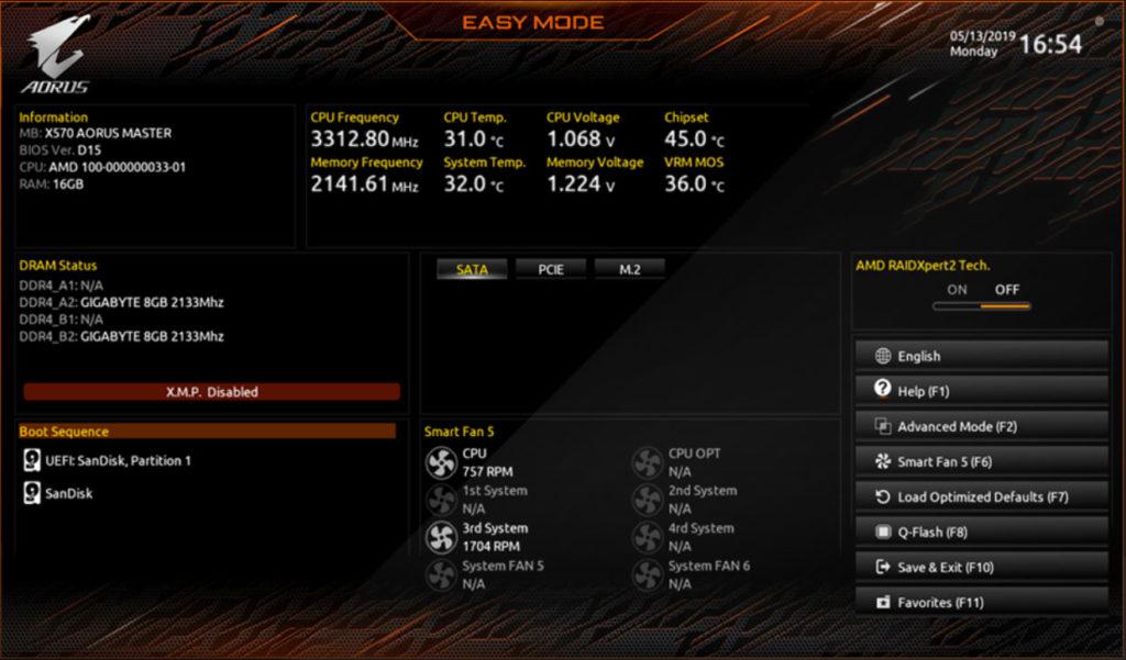 gigabyte x570 i aorus pro wifi bios