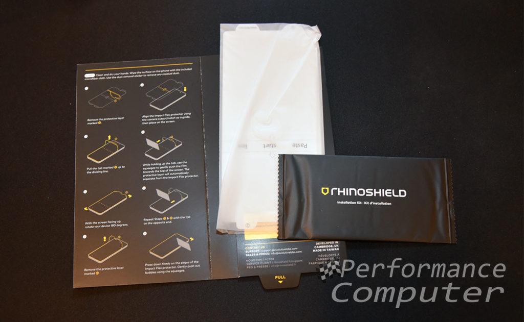 rhinoshield note 10+ screen protector installation