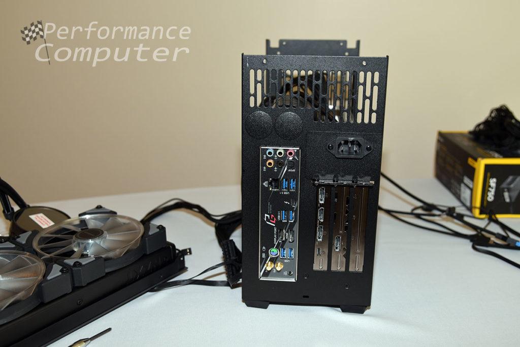 sliger sm580 motherboard graphics card ports