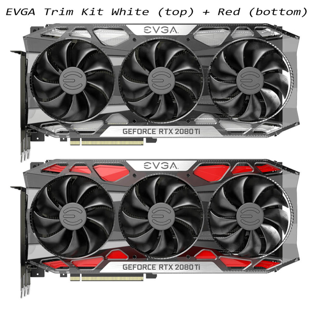evga rtx 20 series red white trim kit
