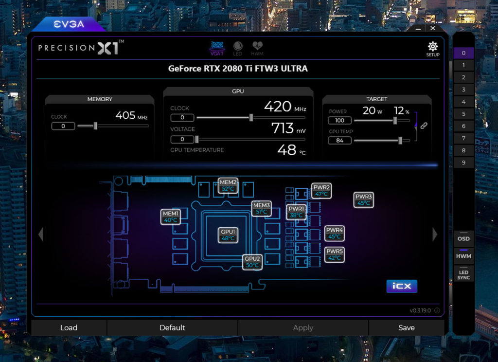 evga rtx 2080 ti ftw3 ultra gaming cooling sensors