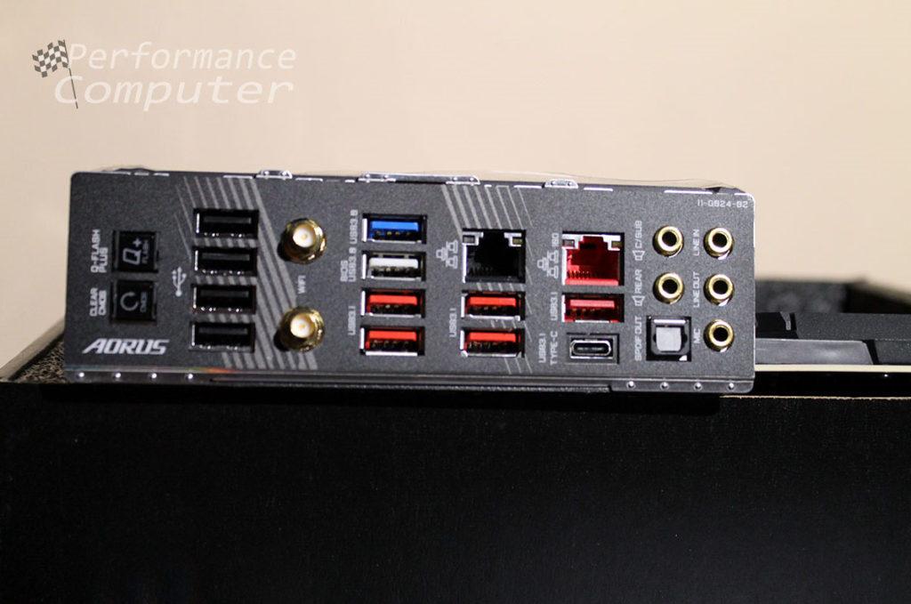 gigabyte x570 aorus xtreme motherboard rear io