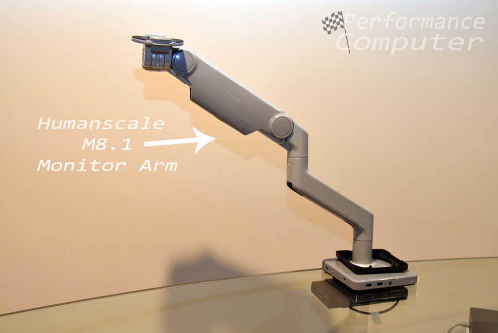 humanscale m connect 2 with m8.1 monitor arm
