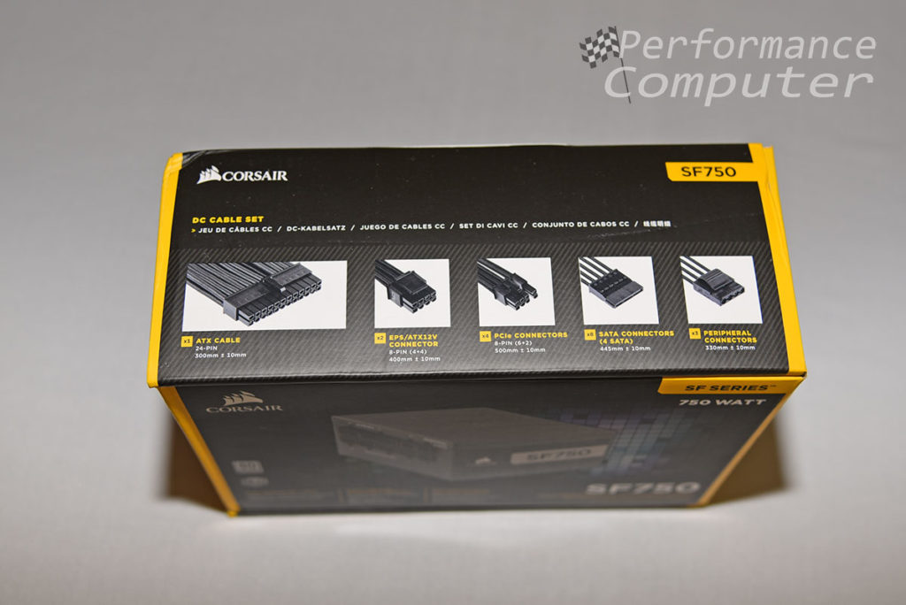 corsair sf750 box top