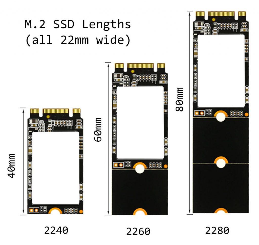 m.2 ssd lengths