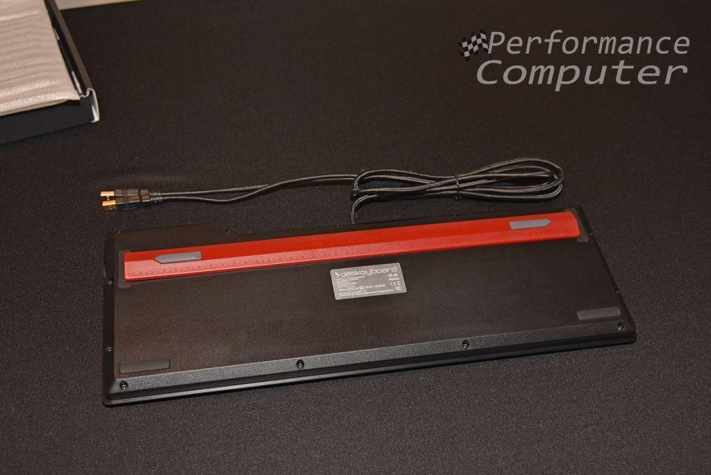 das keyboard 4q footbar ruler attached