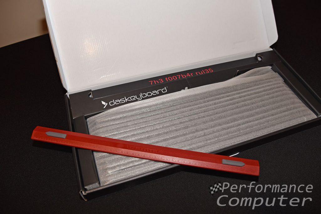 das keyboard 4q unboxing footbar ruler