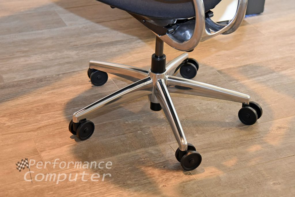 humanscale liberty task chair polished aluminum base