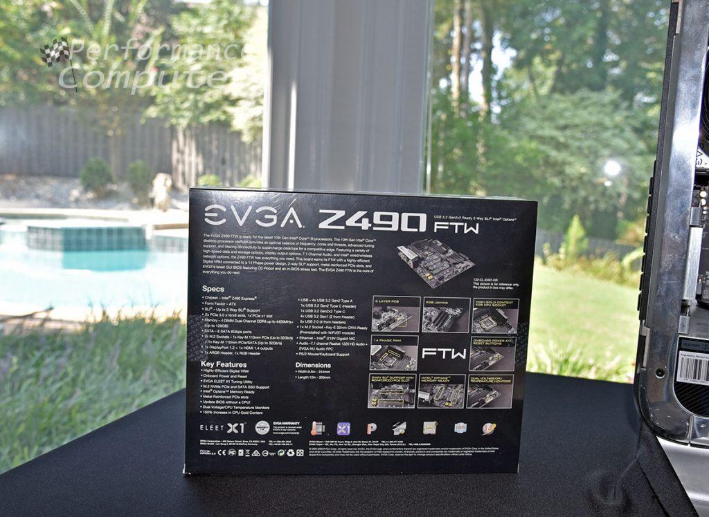 evga z490 ftw motherboard box back