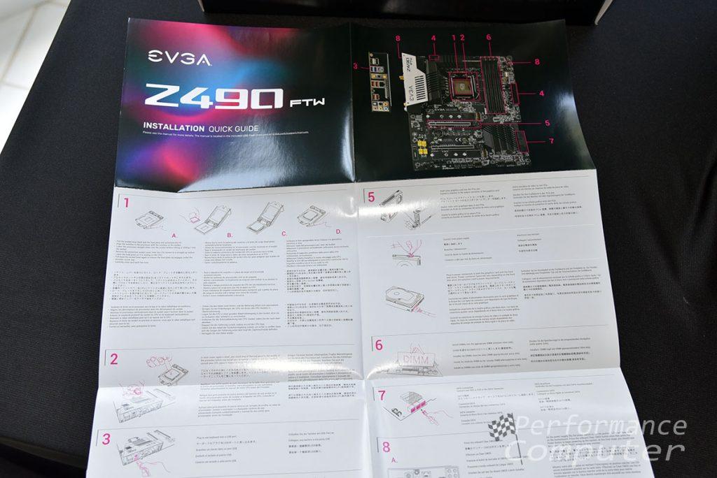 evga z490 ftw motherboard quick start guide back