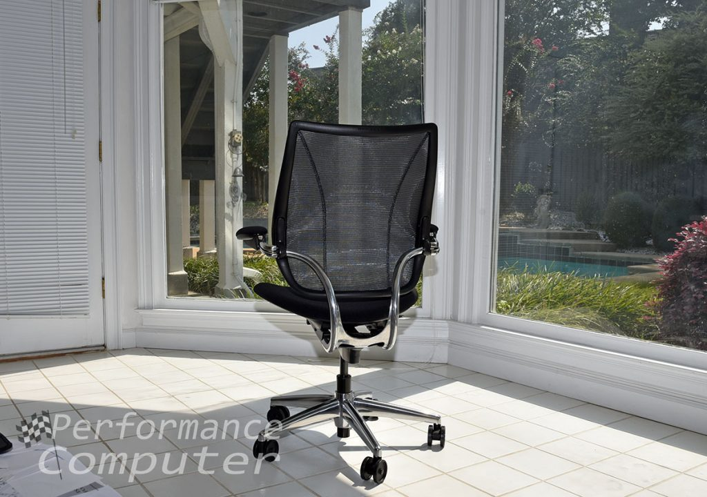 humanscale liberty task chair monofilament stripe back mesh