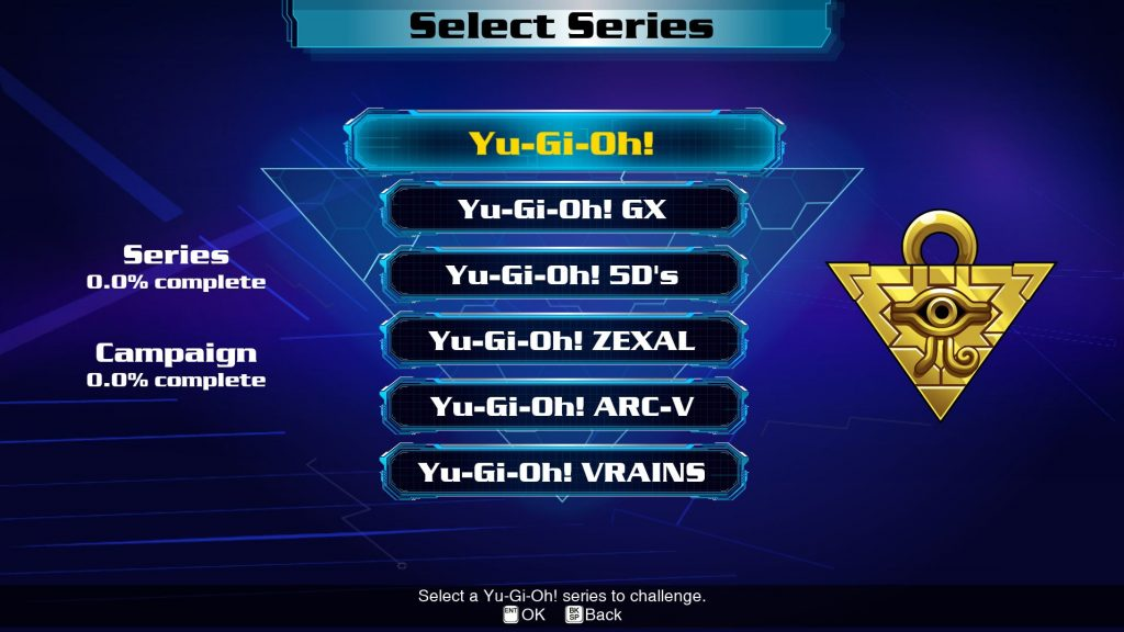 yugioh legacy of the duelist link evolution campaign series screen