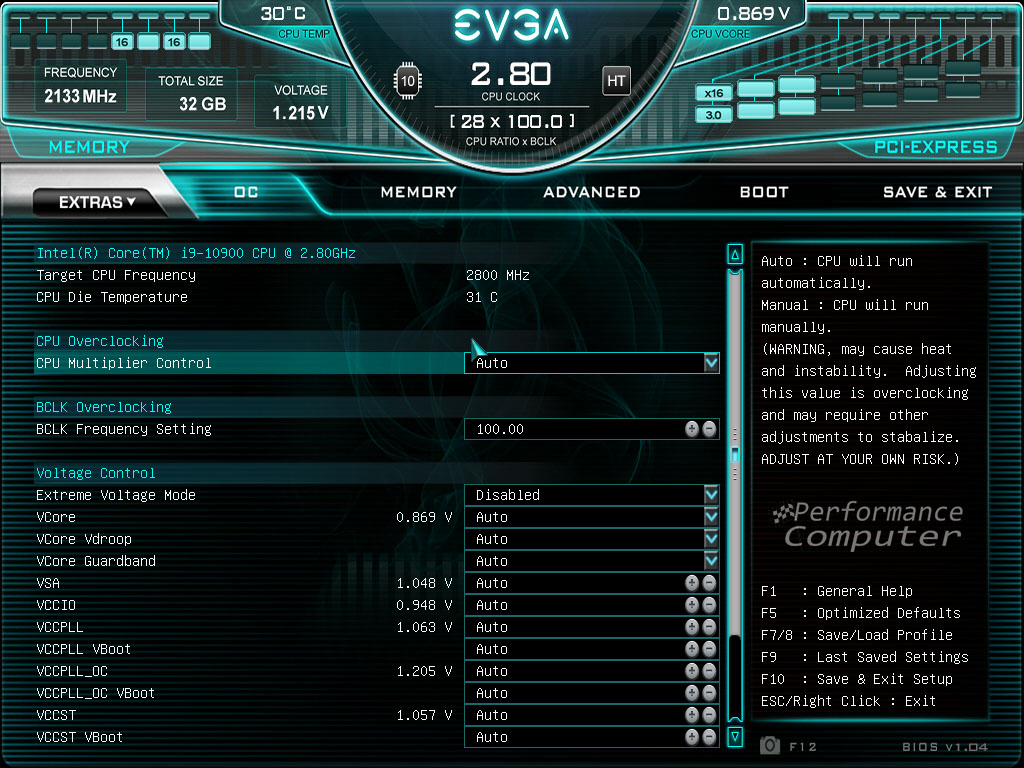 evga z490 ftw bios overclocking settings