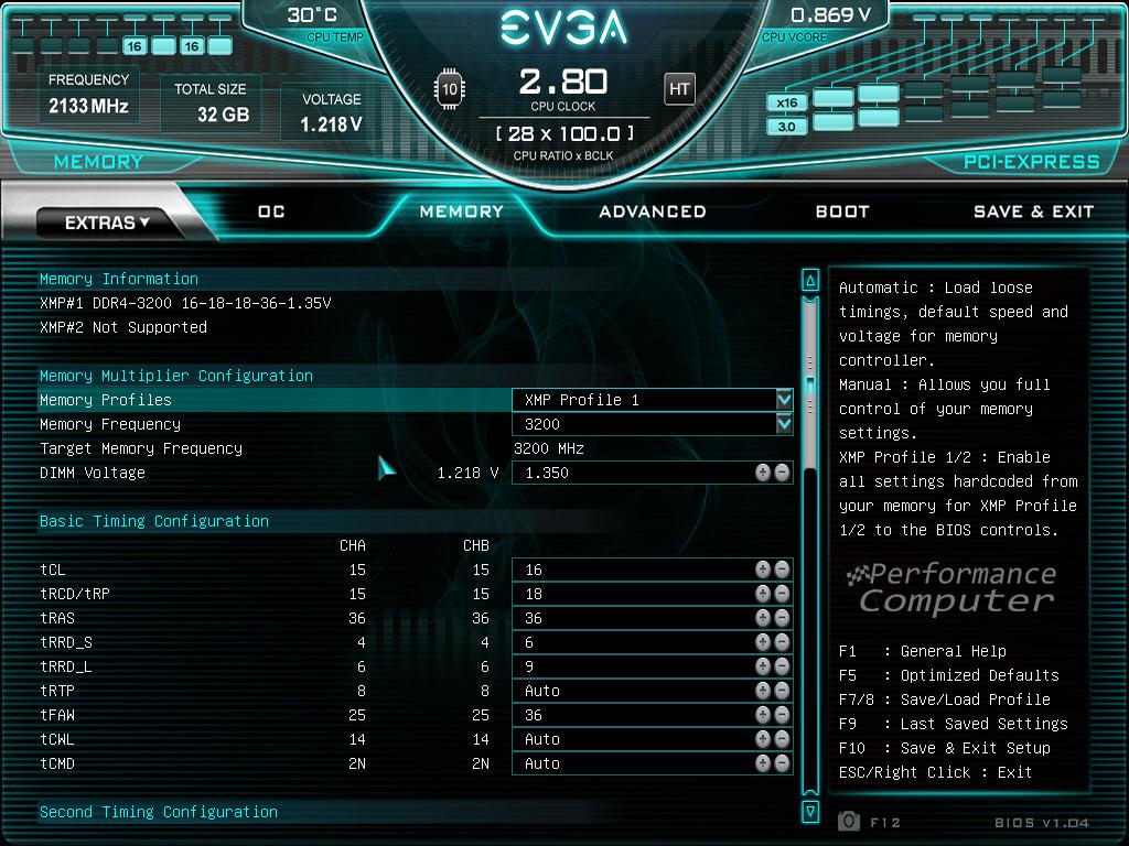 evga z490 ftw bios memory settings