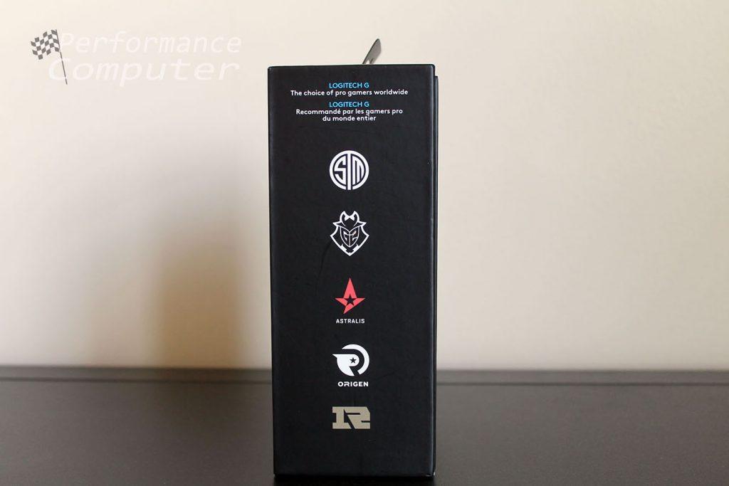 logitech g pro wireless box side features