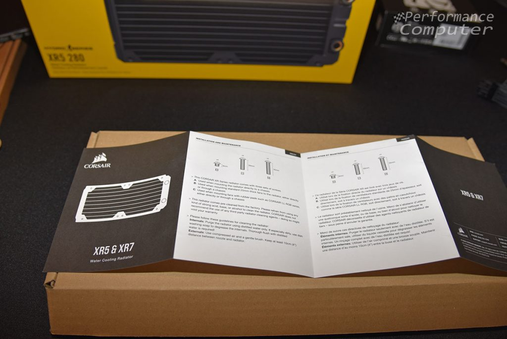 corsair hydro x series xr5 280mm radiator manual